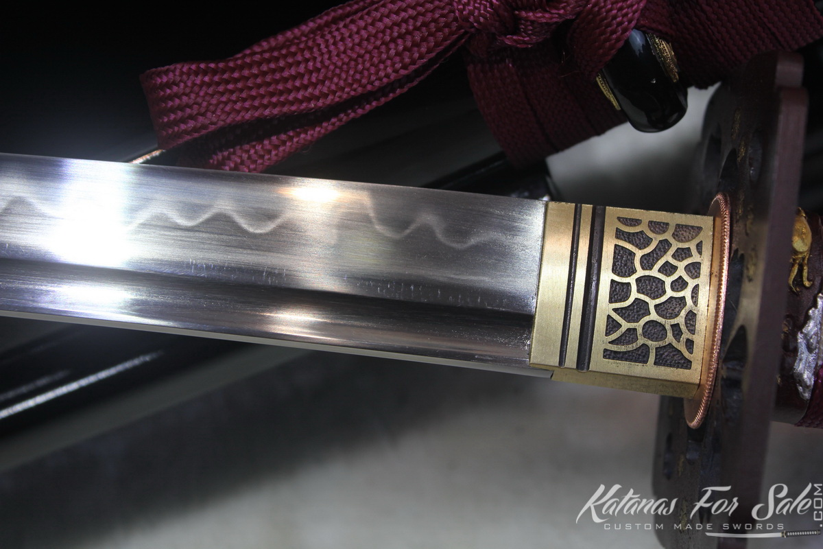 T10 Clay Tempered Wakizashi with Full Copper Set Fittings