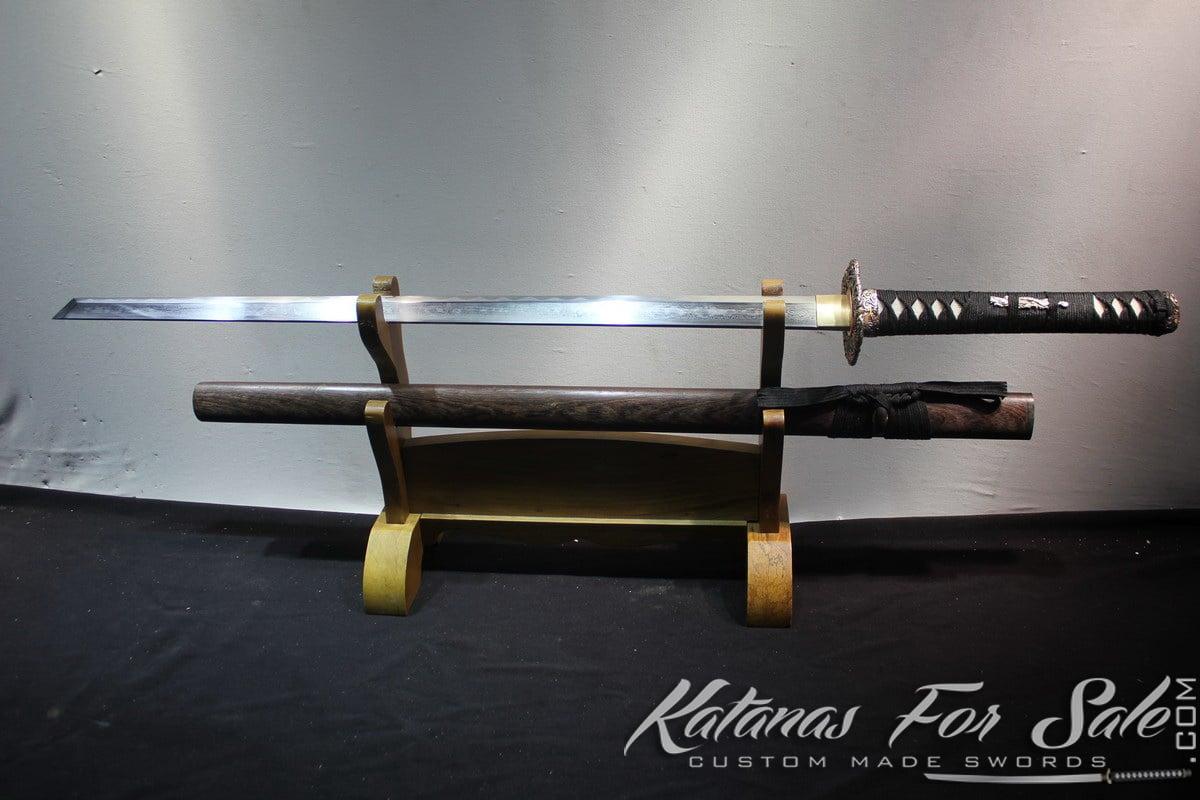 Japanese Folded Steel Clay Tempered Kiriha Zukuri Ninjato
