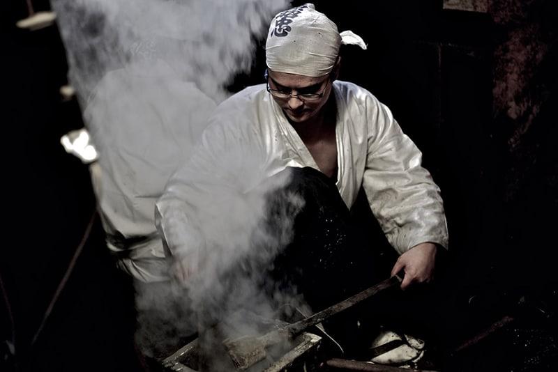 Production of Tamahagane