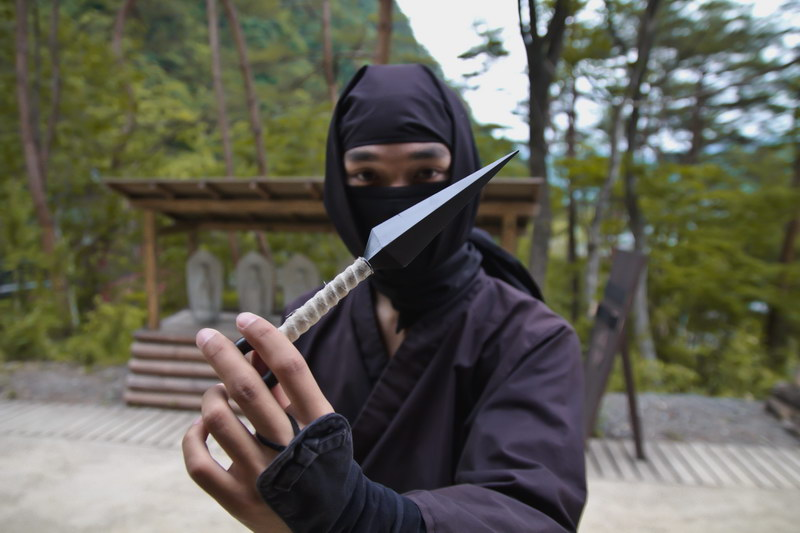 Ninja with His Weapon