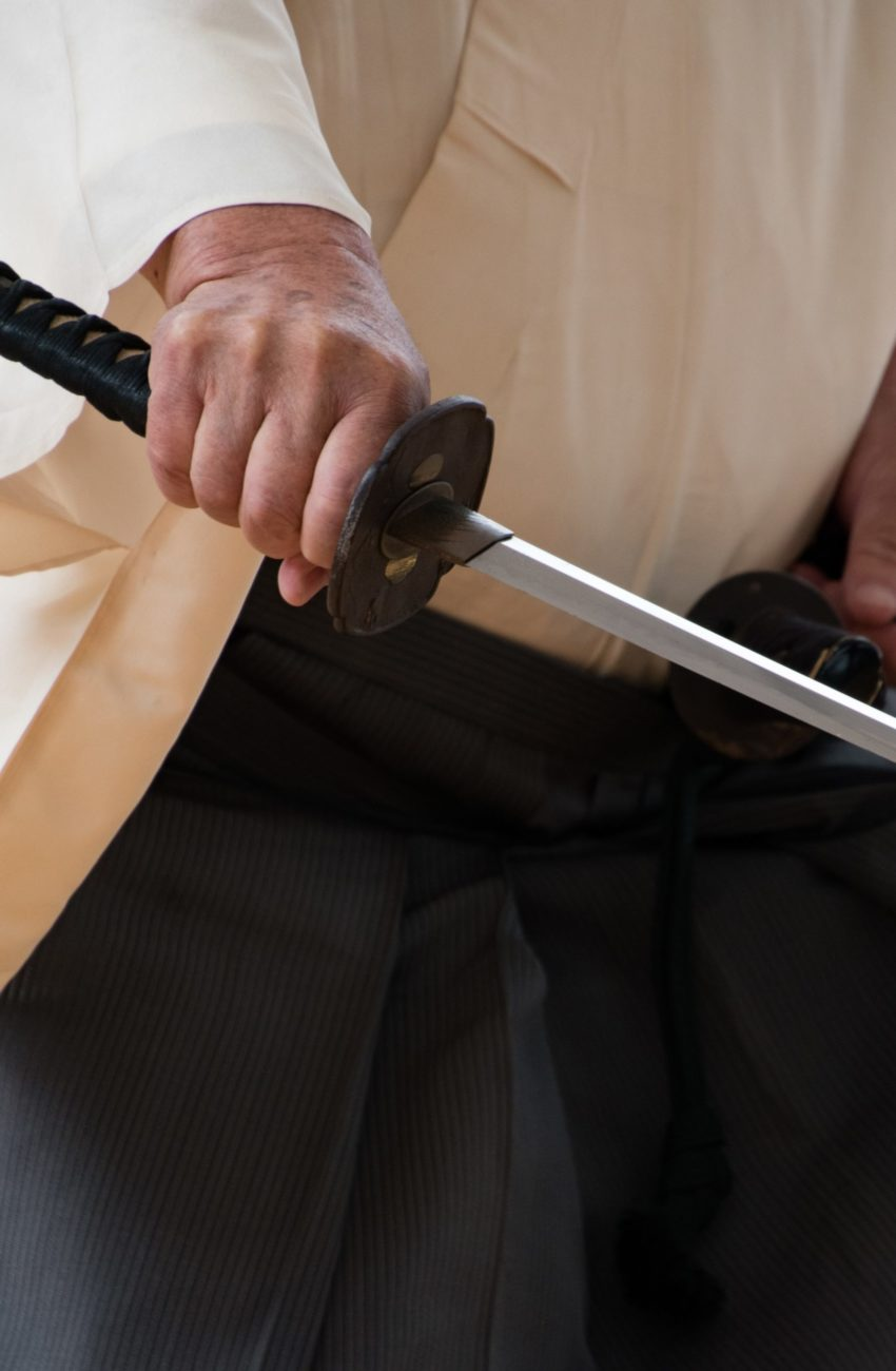 Samurai with katana